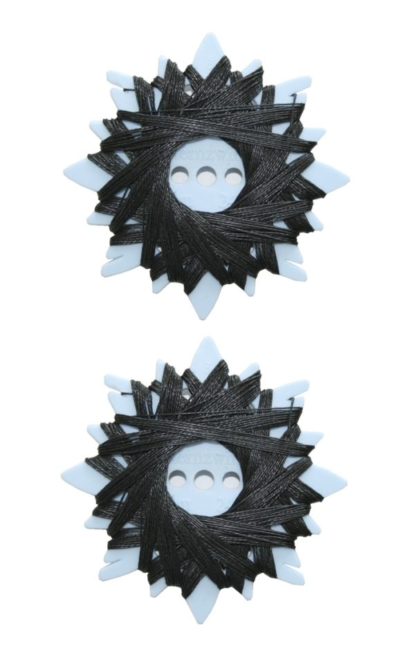 Sternzwirn Ramie extra stark 24/3 20m schwarz 2 Stück (0002)