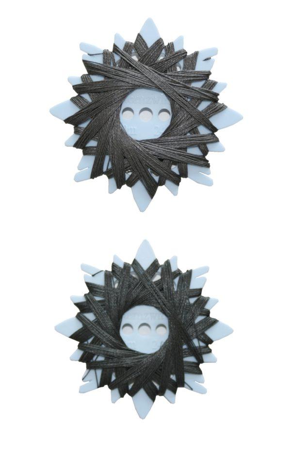 Sternzwirn Ramie extra stark 24/3 20m grau anthrazit 2 Stück (0004)