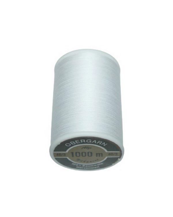 Nähmaschinen Obergarn Nähgarn 1000m Baumwolle 40/3 weiß (1000)