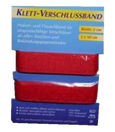 Klettband Klettverschluss 2x50cm 2cm rot (1005)