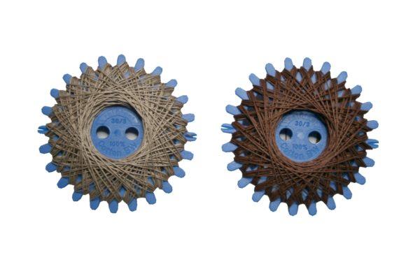 Sternzwirn Baumwolle 2 Stück je 20 m beige + braun (0013)