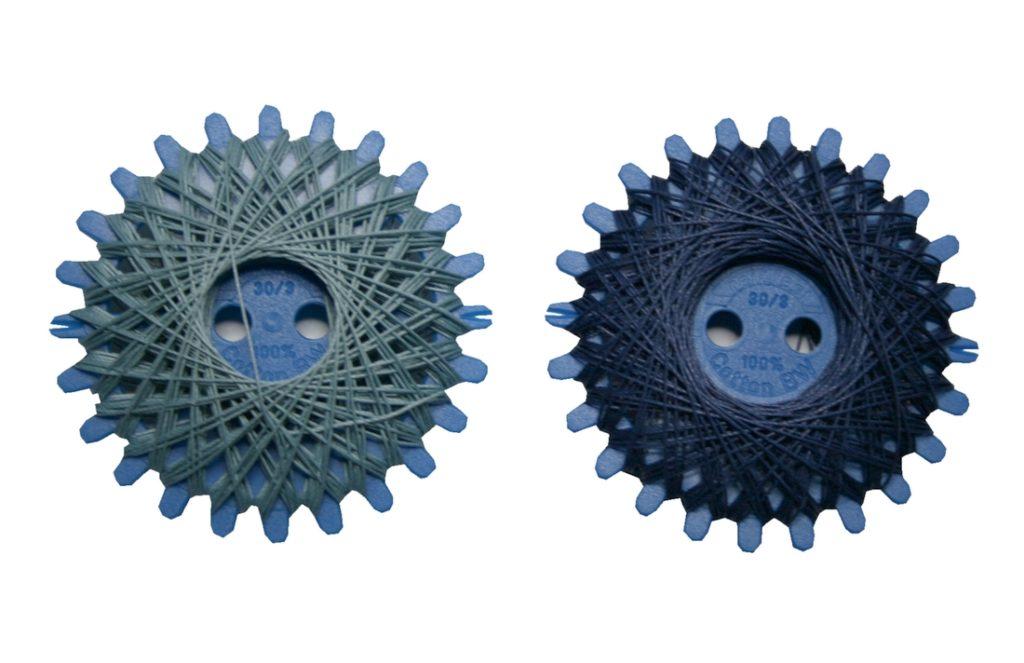 Sternzwirn Baumwolle 2 Stück je 20 m blau (0014)