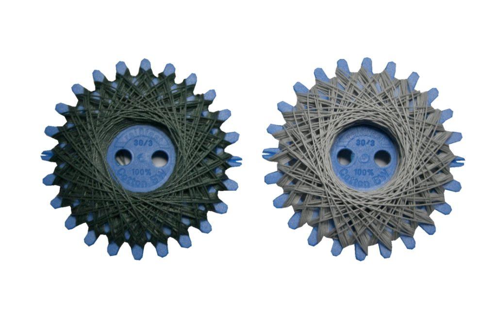 Sternzwirn Baumwolle 2 Stück je 20 m grau (0015)