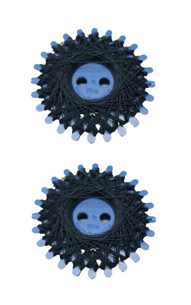 Sternzwirn Baumwolle 2 Stück je 20 m dunkelblau (0967)