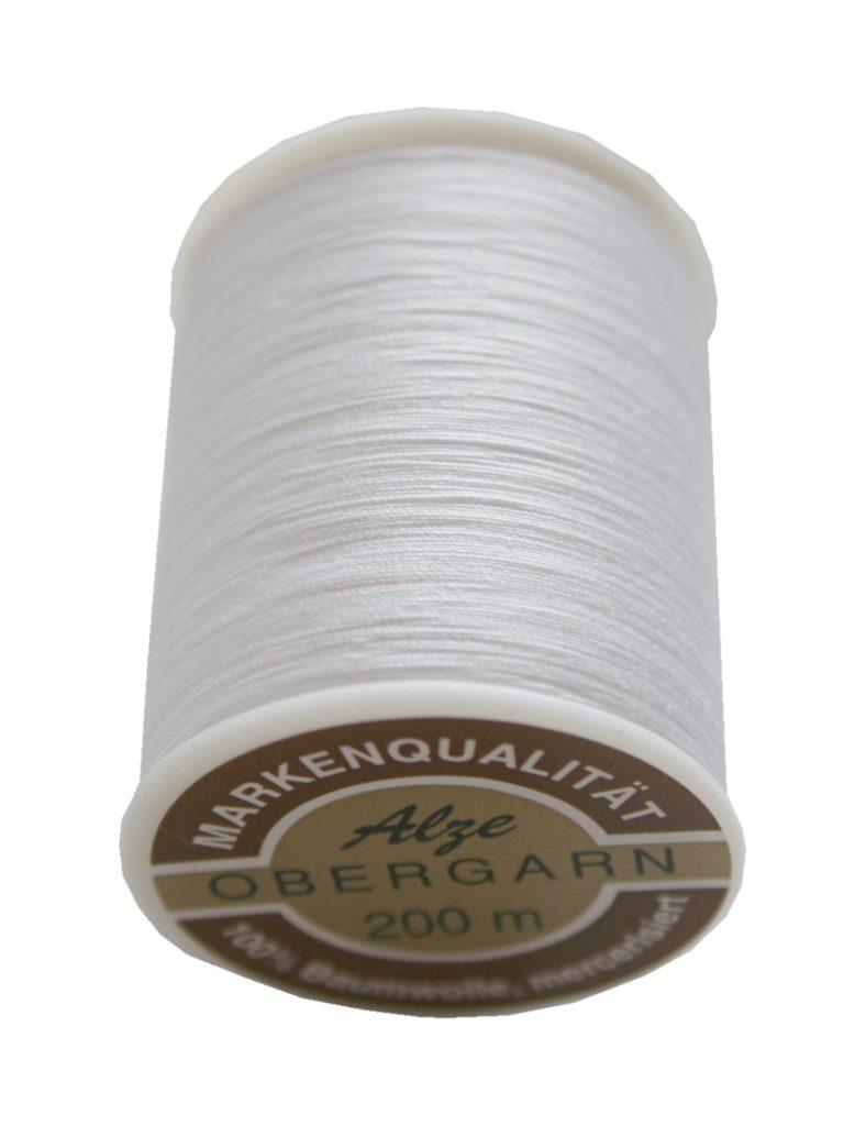 Nähmaschinen Obergarn Baumwolle 50/3 200 m weiß (0901)