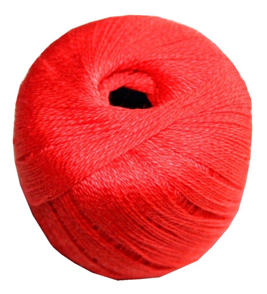 Stopftwist Stopfgarn Baumwolle 8-fach mercerisiert 20 m rot (0881)