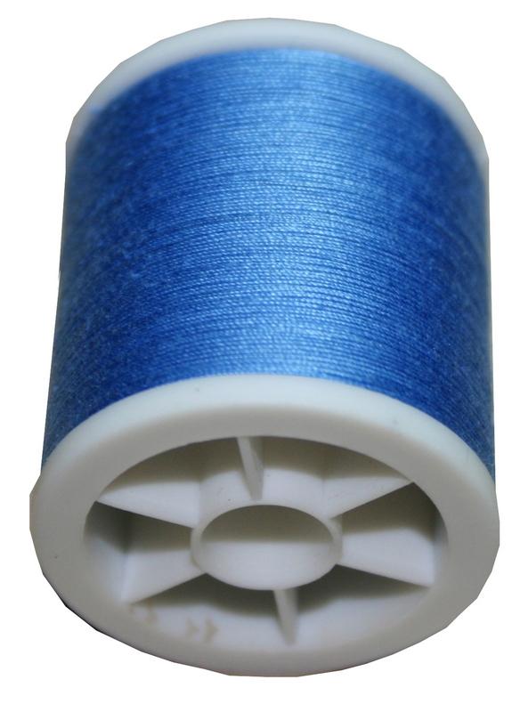 Obergarn Nähmaschinennähgarn Baumwolle 100m 50/3 blau bleu (1020)