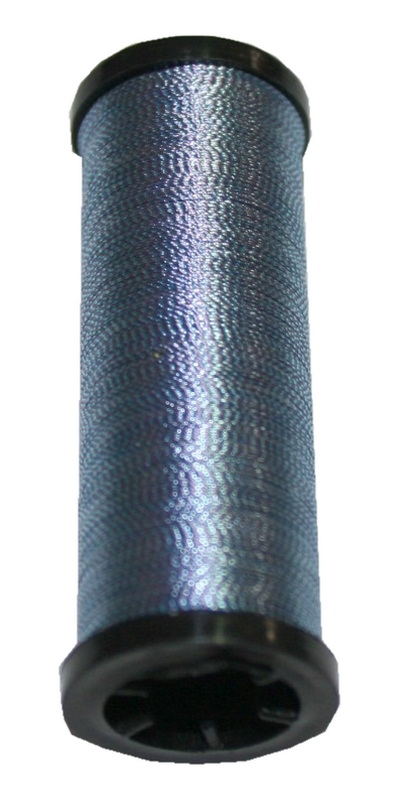 Nähmaschinen Glanz-Effektfaden blau 50 m (9993)