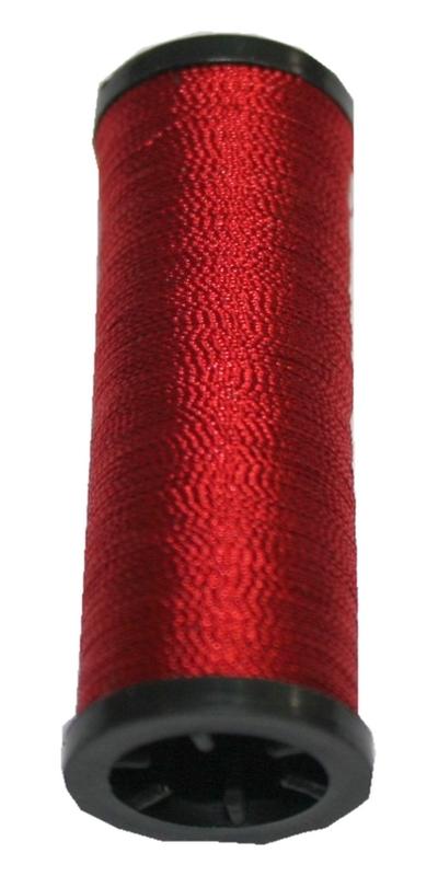 Nähmaschinen Glanz-Effektfaden rot 50 m (9994)