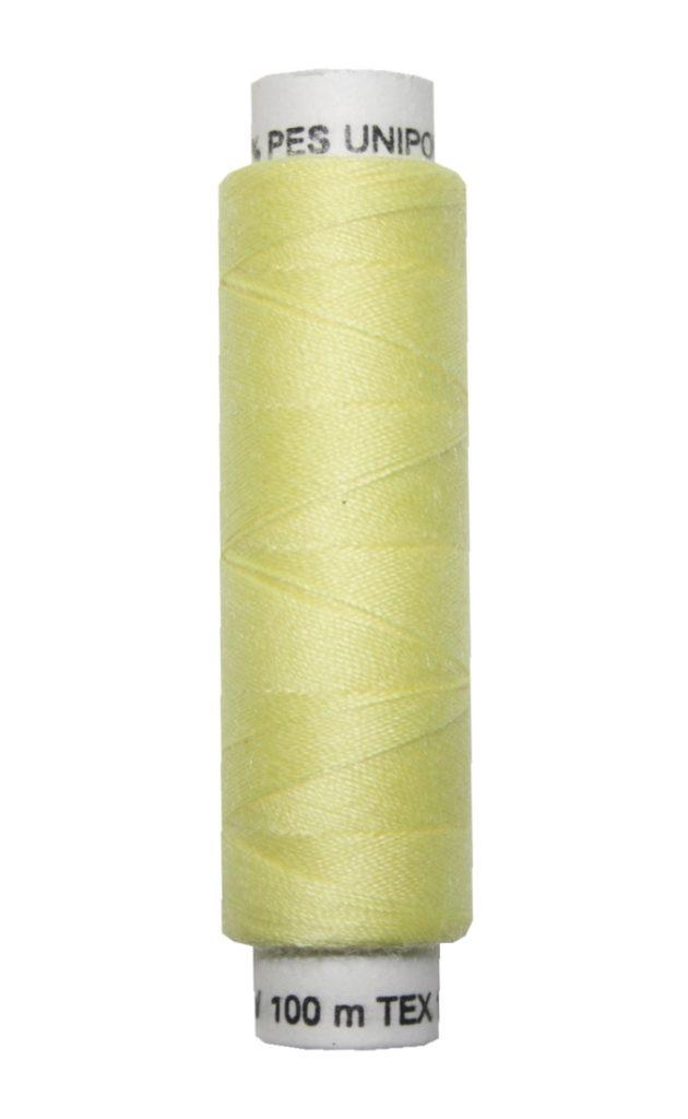 Nähmaschinen Nähgarn 100 m Polyester UNIPOLY 14x2 gelb (0163)