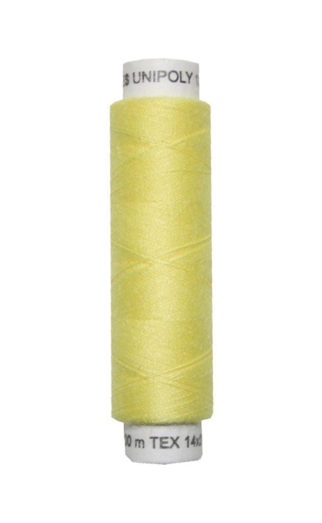 Nähmaschinen Nähgarn 100 m Polyester UNIPOLY 14x2 gelb (0165)