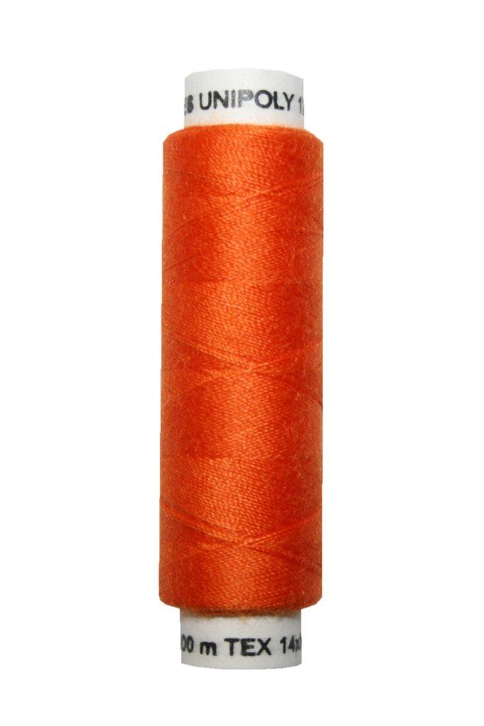 Nähmaschinen Nähgarn 100 m Polyester UNIPOLY 14x2 orange (0225)