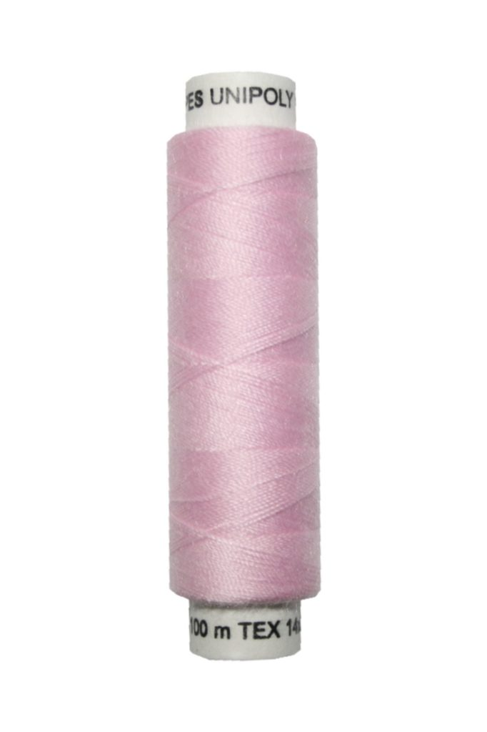 Nähmaschinen Nähgarn 100 m Polyester UNIPOLY 14x2 rose (0330)