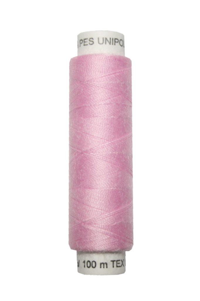 Nähmaschinen Nähgarn 100 m Polyester UNIPOLY 14x2 rose (0331)