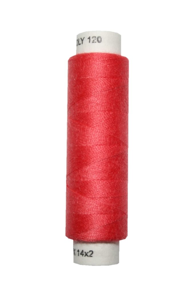 Nähmaschinen Nähgarn 100 m Polyester UNIPOLY 14x2 rot (0334)