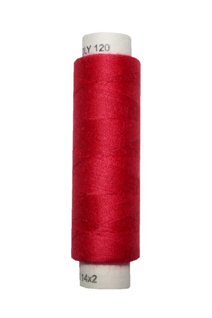 Nähmaschinen Nähgarn 100 m Polyester UNIPOLY 14x2 rot (0335)