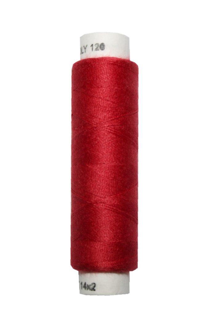 Nähmaschinen Nähgarn 100 m Polyester UNIPOLY 14x2 rot (0337)