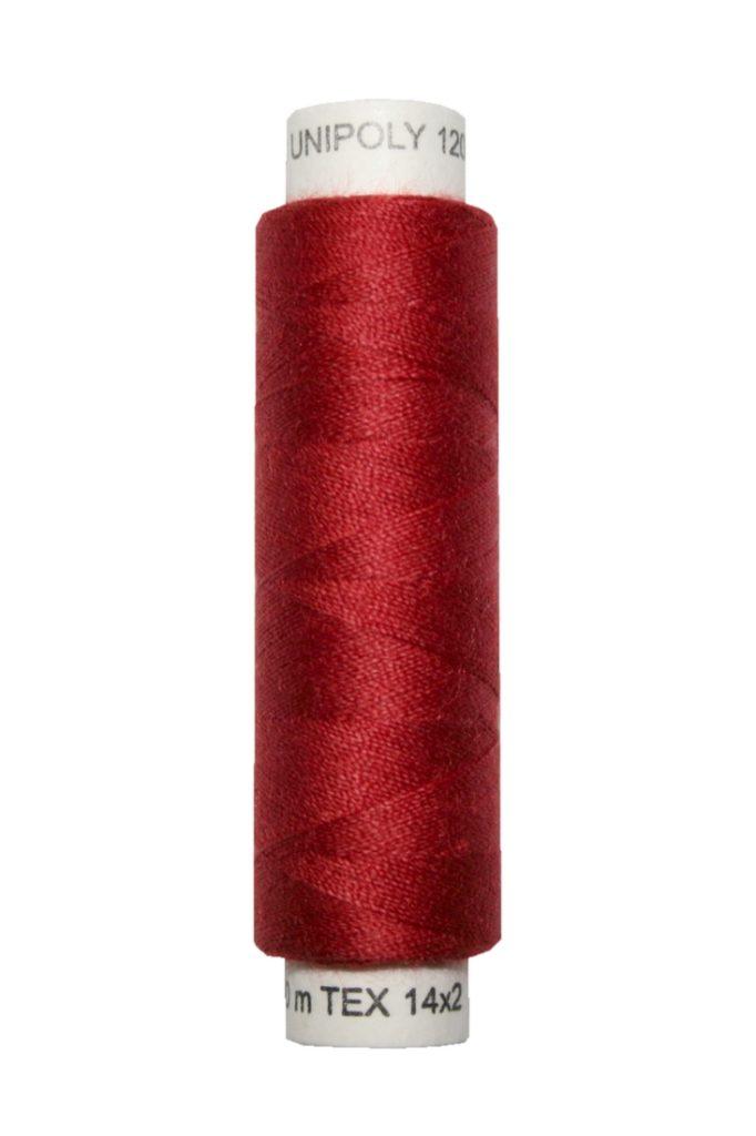 Nähmaschinen Nähgarn 100 m Polyester UNIPOLY 14x2 bordeaux (0344)