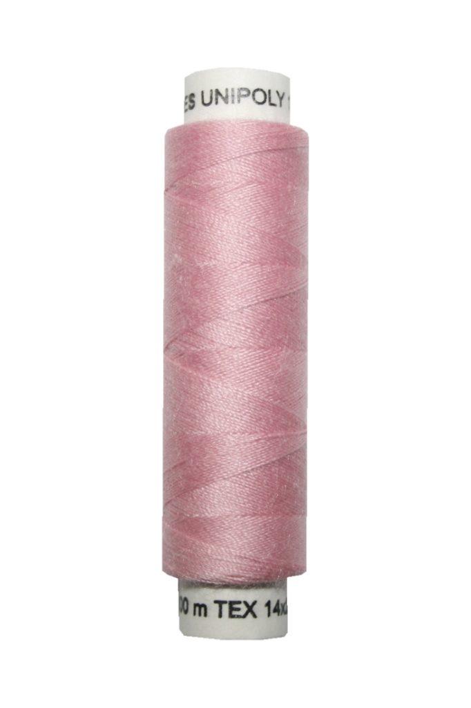 Nähmaschinen Nähgarn 100 m Polyester UNIPOLY 14x2 rosa (0371)