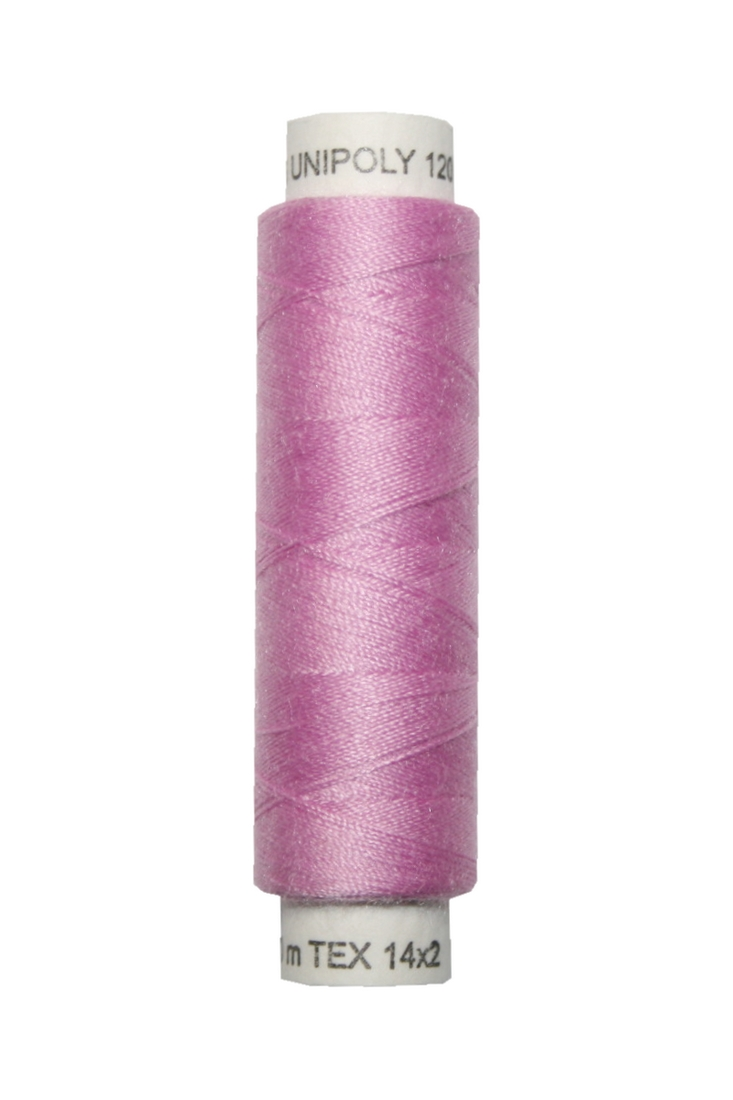 Nähmaschinen Nähgarn 100 m Polyester UNIPOLY 14x2 pink (0434)