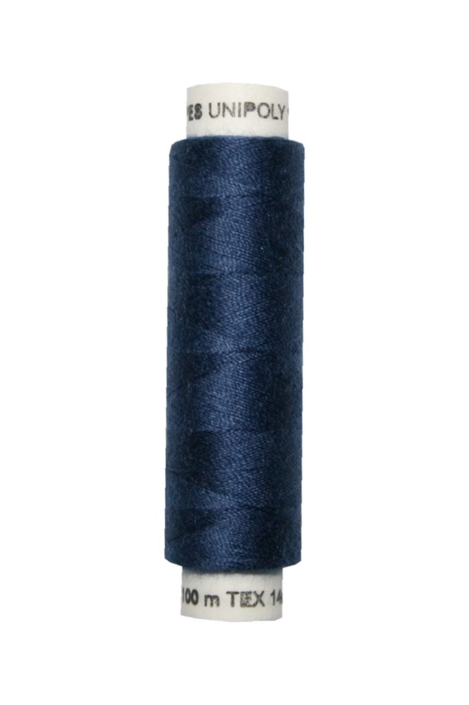 Nähmaschinen Nähgarn 100 m Polyester UNIPOLY 14x2 dunkelblau (0549)