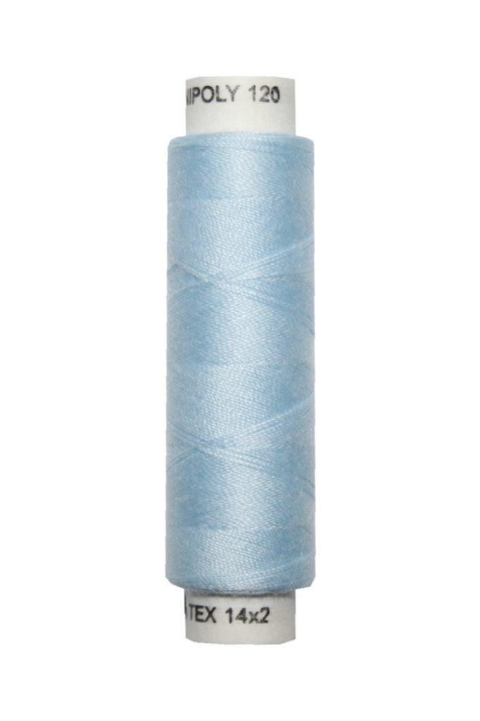 Nähmaschinen Nähgarn 100 m Polyester UNIPOLY 14x2 hellblau (0550)