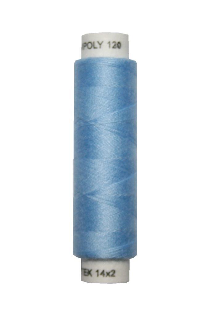 Nähmaschinen Nähgarn 100 m Polyester UNIPOLY 14x2 hellblau (0551)