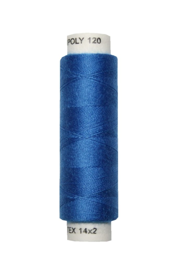 Nähmaschinen Nähgarn 100 m Polyester UNIPOLY 14x2 blau (0556)