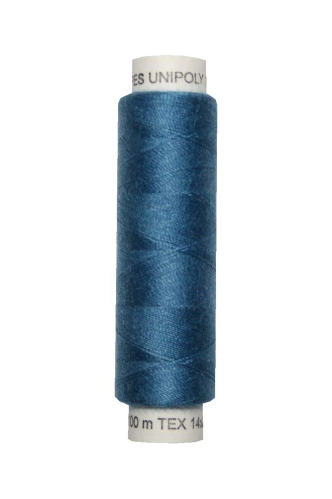 Nähmaschinen Nähgarn 100 m Polyester UNIPOLY 14x2 blau (0567)