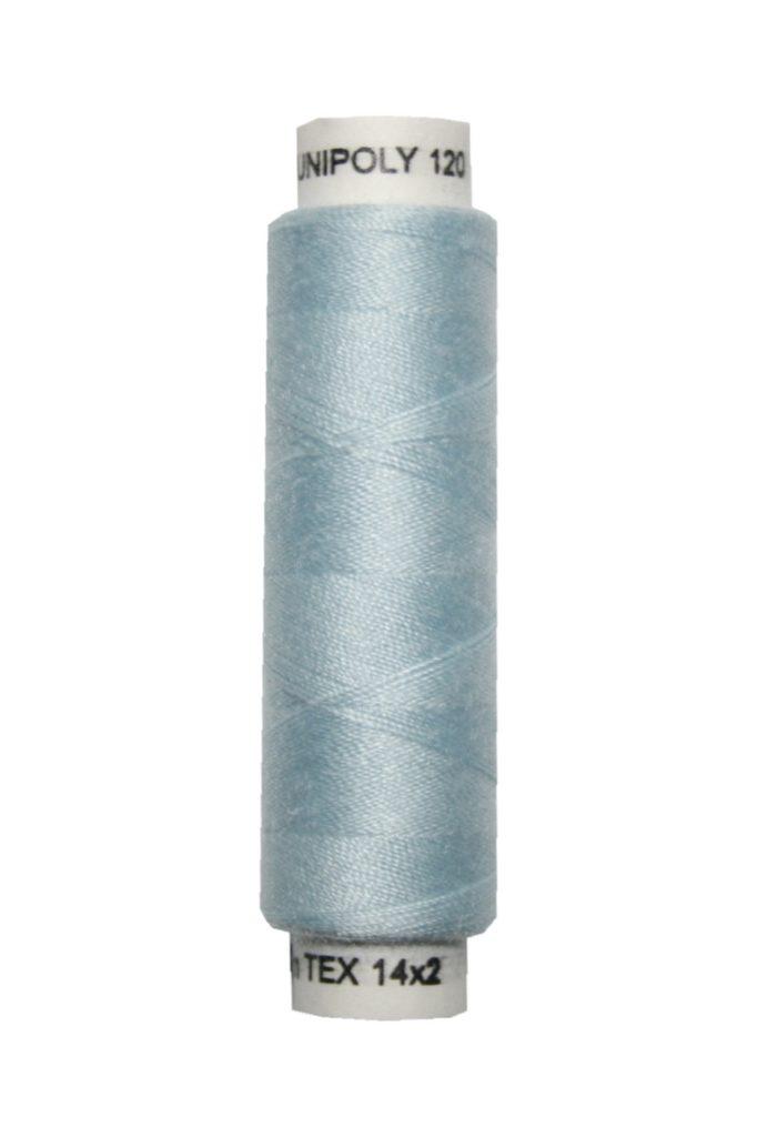 Nähmaschinen Nähgarn 100 m Polyester UNIPOLY 14x2 hellblau (0581)