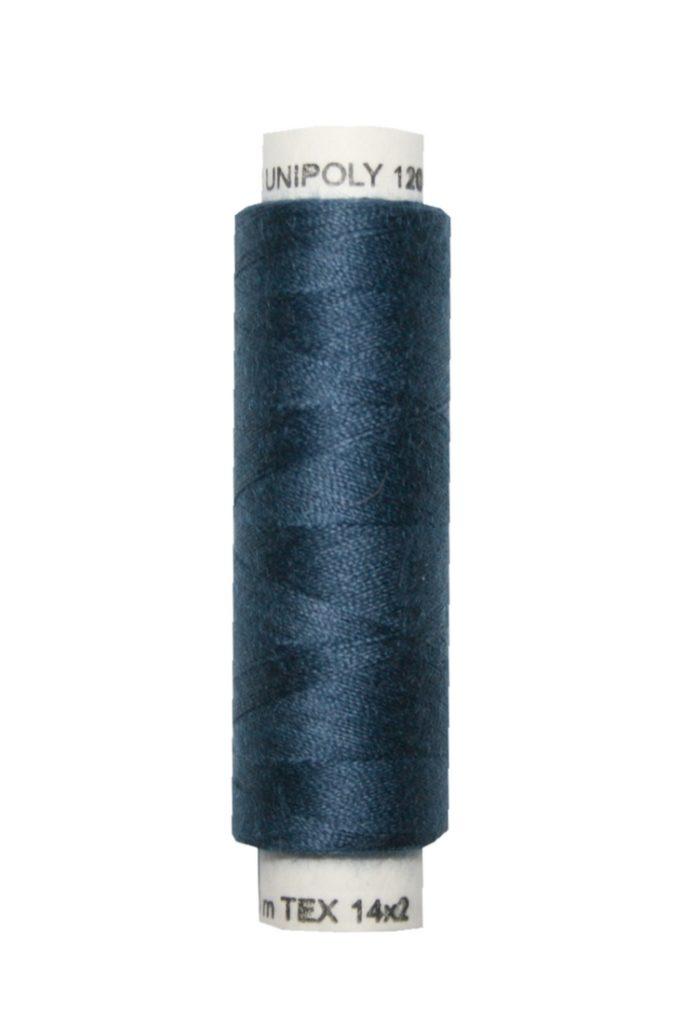 Nähmaschinen Nähgarn 100 m Polyester UNIPOLY 14x2 dunkelblau (0588)