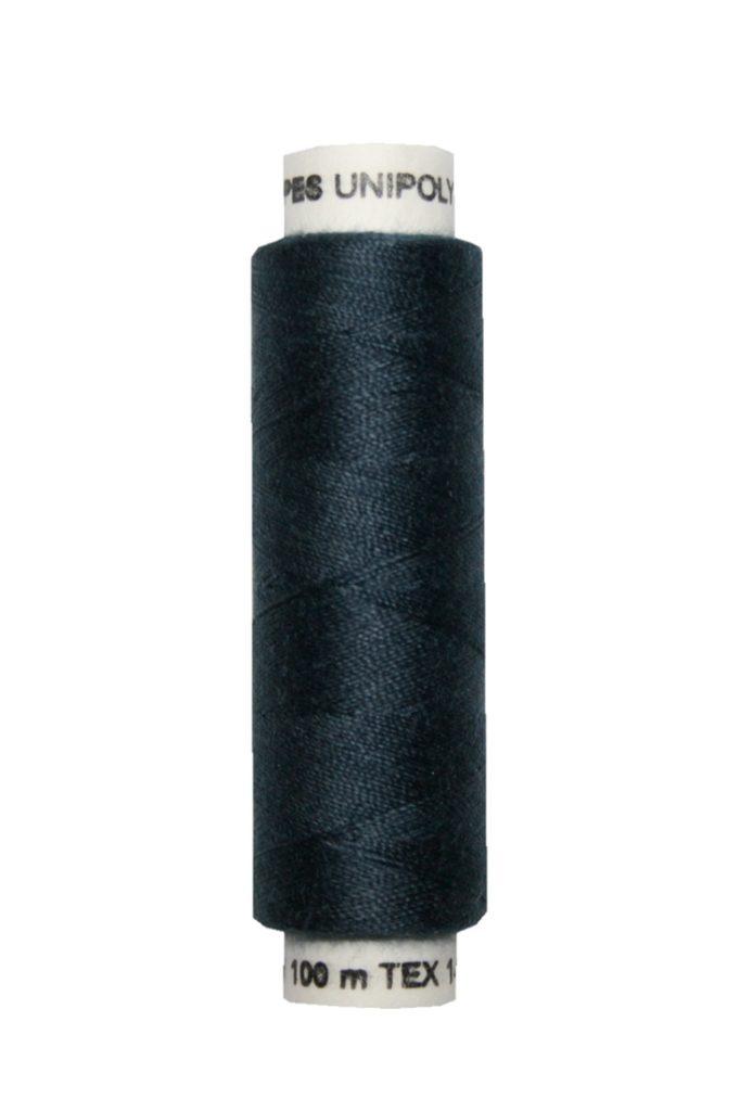 Nähmaschinen Nähgarn 100 m Polyester UNIPOLY 14x2 dunkelblau (0598)