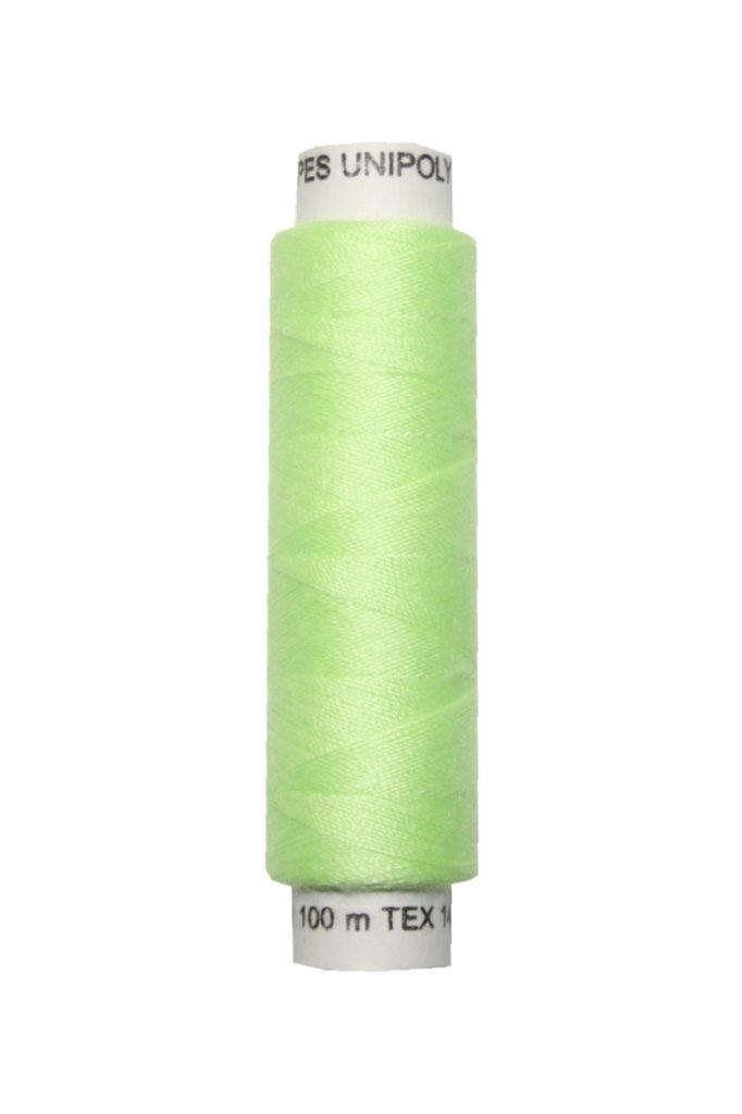 Nähmaschinen Nähgarn 100 m Polyester UNIPOLY 14x2 hellgrün (0612)