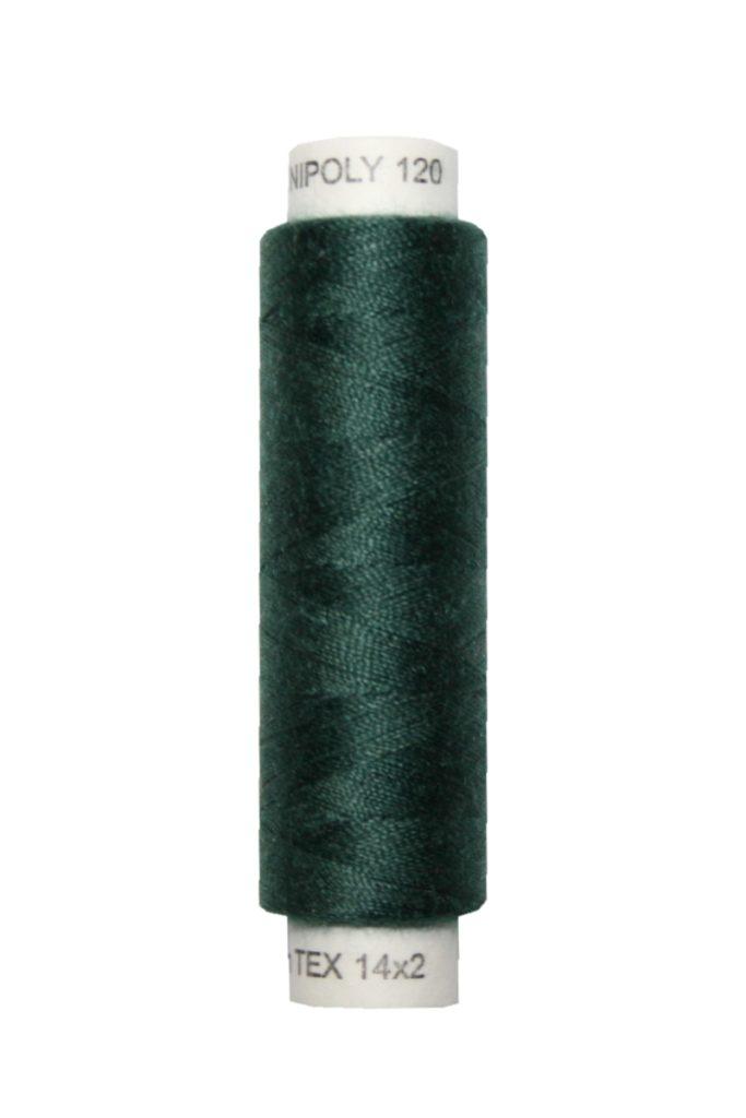 Nähmaschinen Nähgarn 100 m Polyester UNIPOLY 14x2 dunkelgrün (0669)
