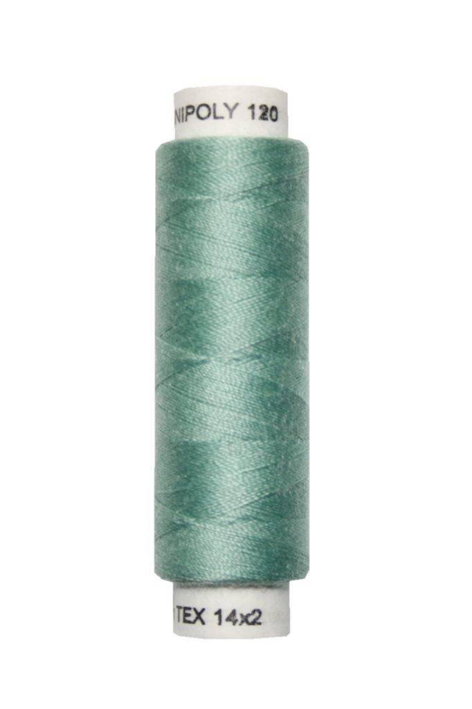 Nähmaschinen Nähgarn 100 m Polyester UNIPOLY 14x2 grün (0673)