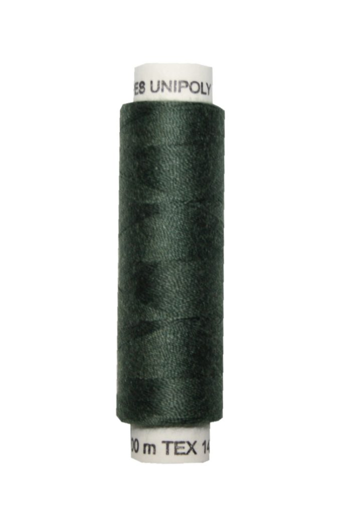 Nähmaschinen Nähgarn 100 m Polyester UNIPOLY 14x2 oliv (0679)