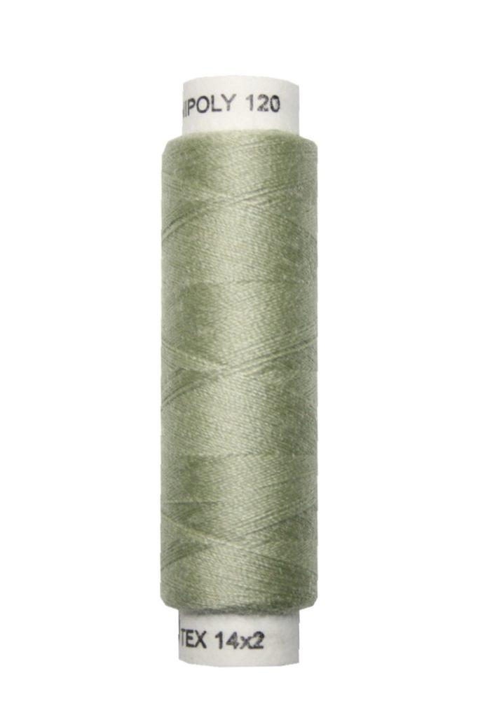 Nähmaschinen Nähgarn 100 m Polyester UNIPOLY 14x2 grün (0681)