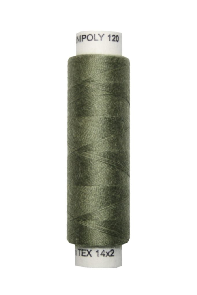 Nähmaschinen Nähgarn 100 m Polyester UNIPOLY 14x2 oliv (0684)