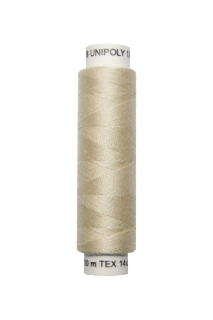 Nähmaschinen Nähgarn 100 m Polyester UNIPOLY 14x2 beige (0710)