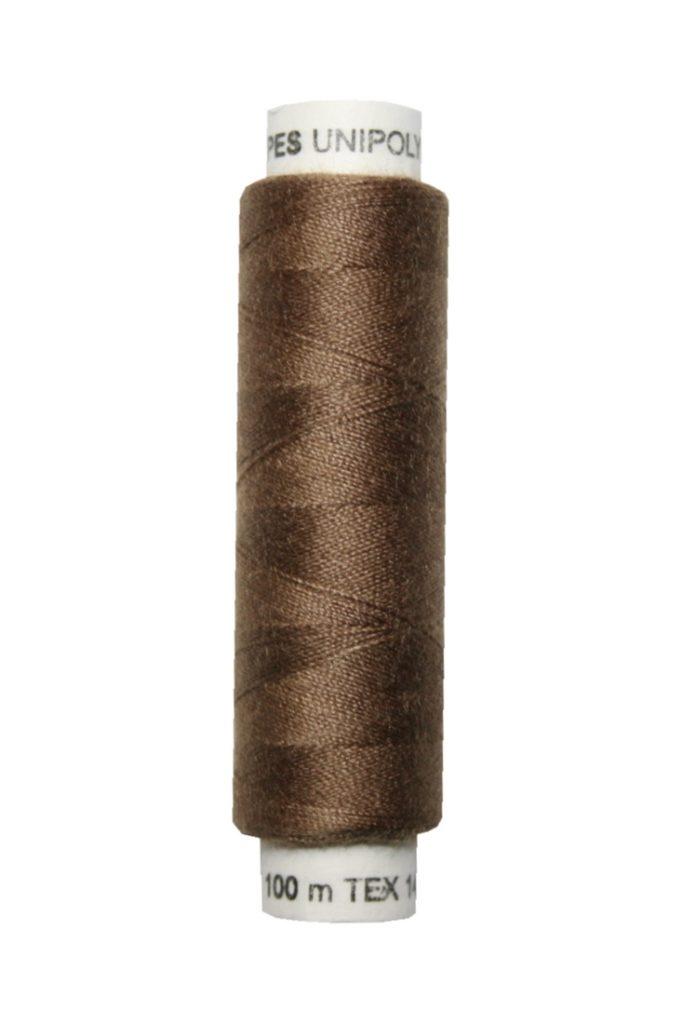 Nähmaschinen Nähgarn 100 m Polyester UNIPOLY 14x2 braun (0718)