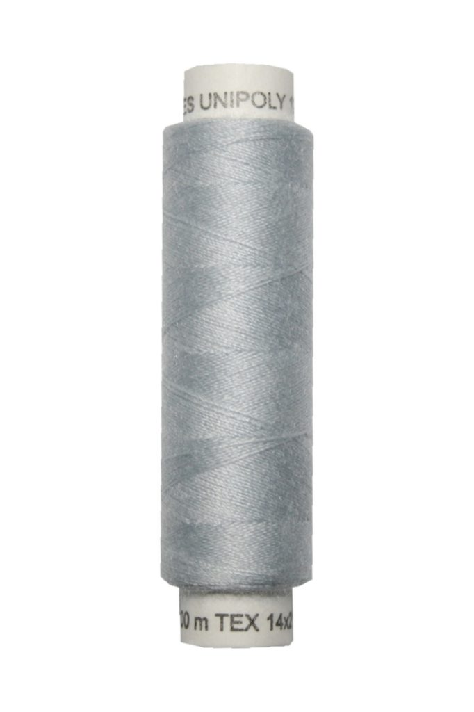 Nähmaschinen Nähgarn 100 m Polyester UNIPOLY 14x2 silbergrau (0850)