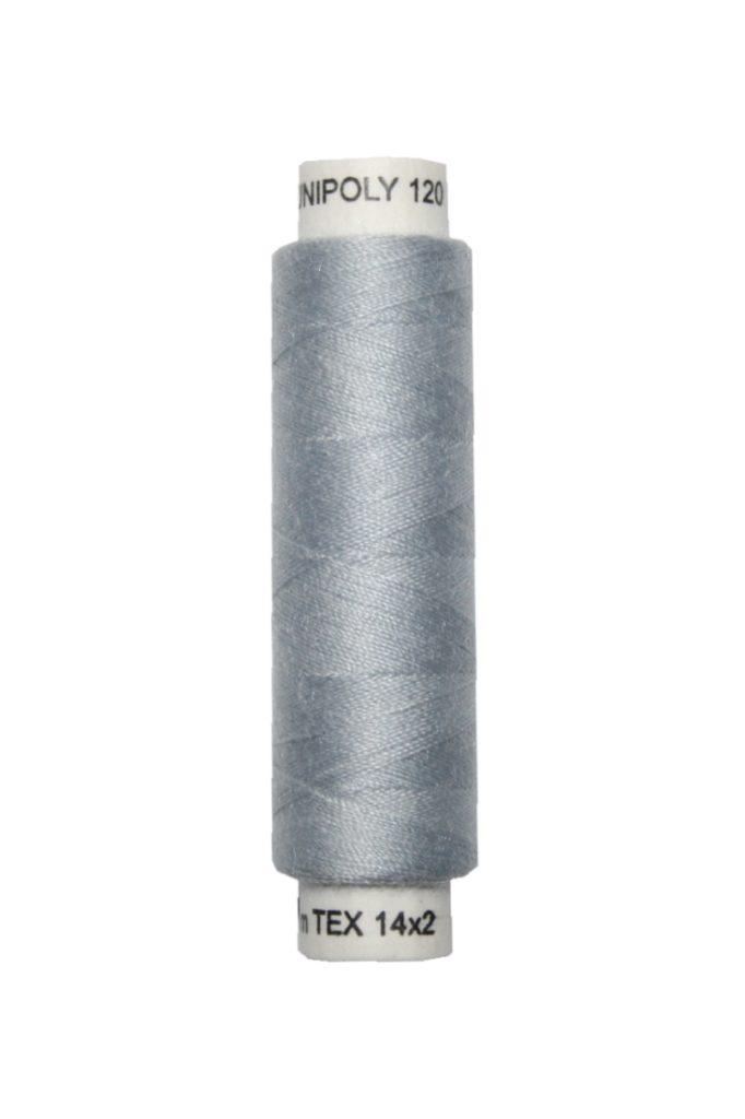 Nähmaschinen Nähgarn 100 m Polyester UNIPOLY 14x2 grau (0851)