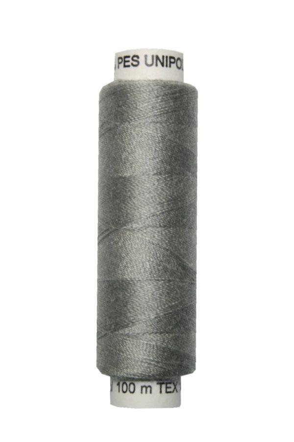 Nähmaschinen Nähgarn 100 m Polyester UNIPOLY 14x2 grau (0864)
