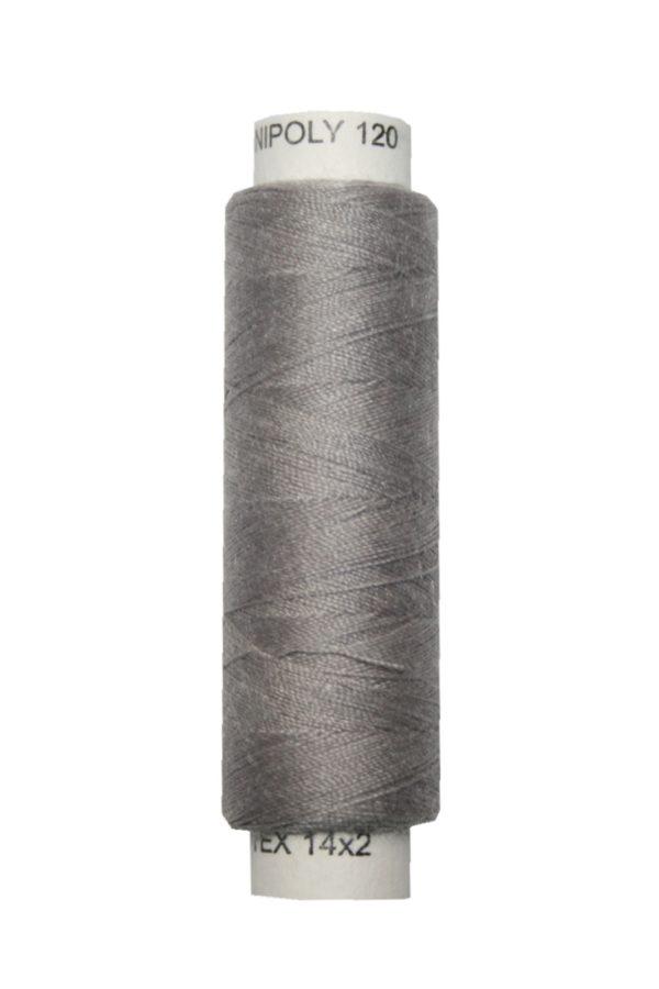 Nähmaschinen Nähgarn 100 m Polyester UNIPOLY 14x2 grau (0874)