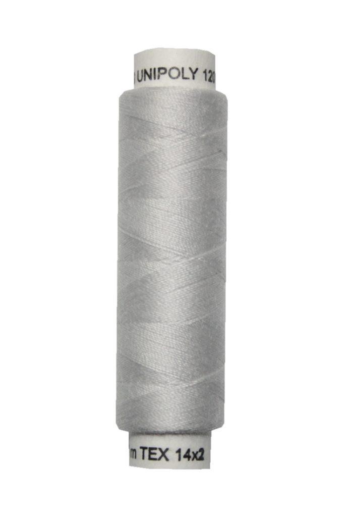 Nähmaschinen Nähgarn 100 m Polyester UNIPOLY 14x2 hellgrau (0880)