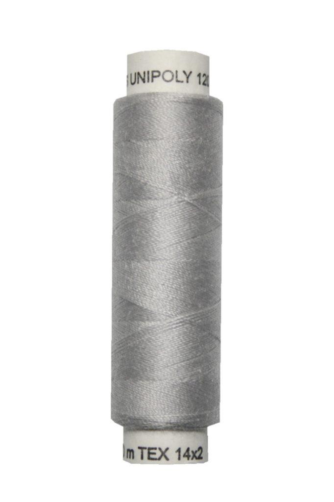 Nähmaschinen Nähgarn 100 m Polyester UNIPOLY 14x2 silbergrau (0881)