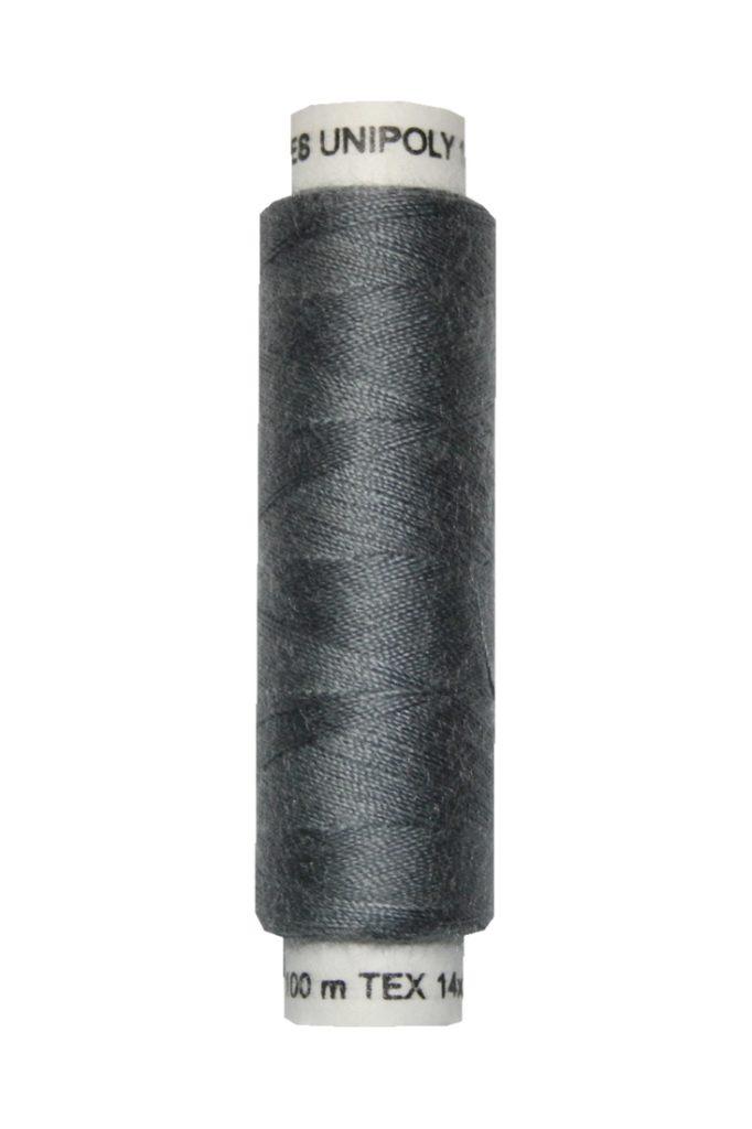 Nähmaschinen Nähgarn 100 m Polyester UNIPOLY 14x2 grau (0887)