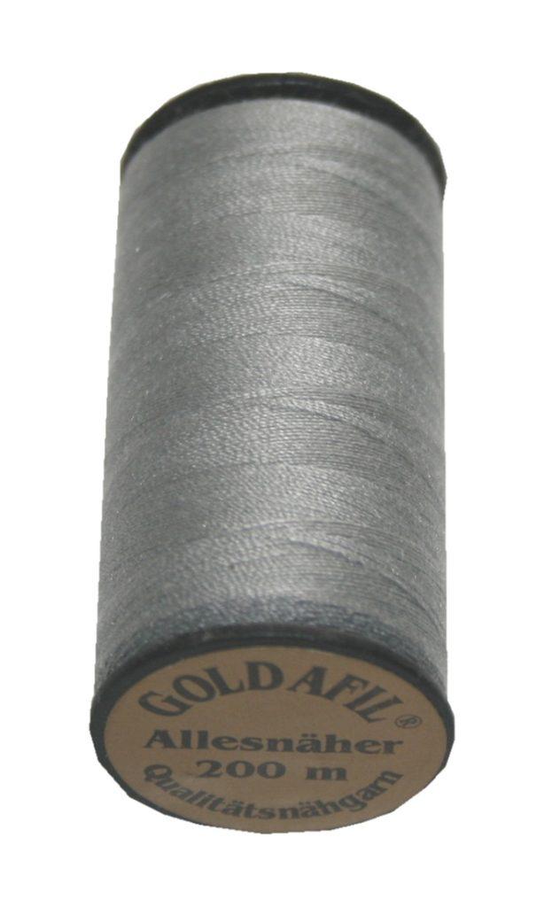 Nähmaschinen Nähgarn Polyester 40/2Ne grau 200m (1003)