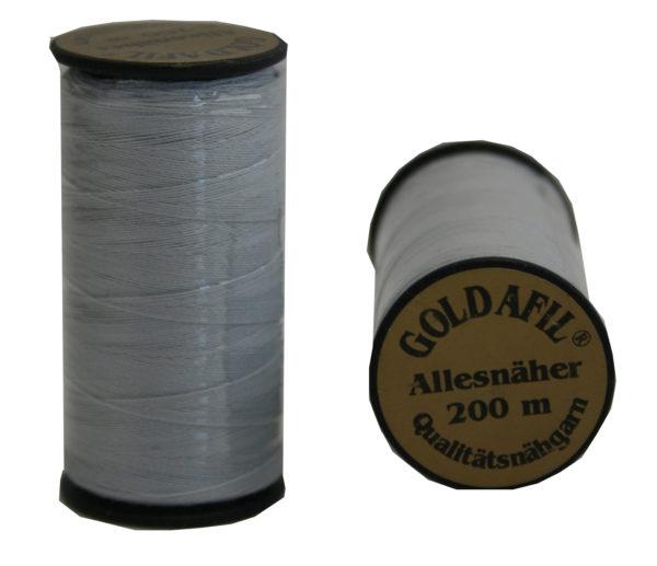 Nähmaschinen Nähgarn Polyester 40/2Ne silbergrau 200m (1004)