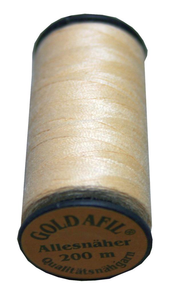Nähmaschinen Nähgarn Polyester Ne 40/2 hellbeige 200 m (1033)
